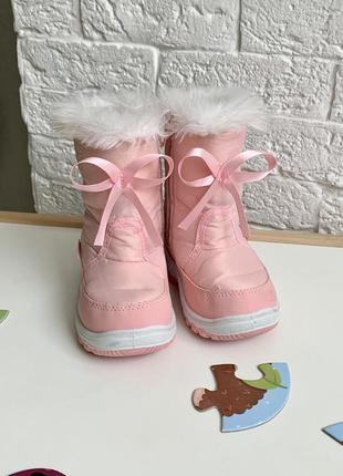 Демисезонные зимние ботинки дутики для девочки