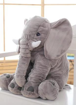 Плюшевый Слон ИКЕА/IKEA 60/40см Розовый, Серый (Мягкая игрушка)