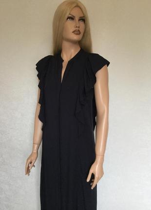 Платье макси на пуговицах с воланами h&m размер xs/s