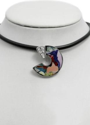 Кулон, подвеска, подвес серебро, мозаика из натурального камня...