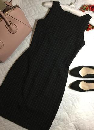 Платье классическое приталенное в полоску new collection размер 8