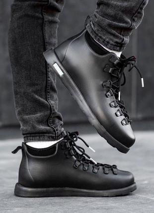 Зимние ботинки native fitzsimmons чёрные мужские