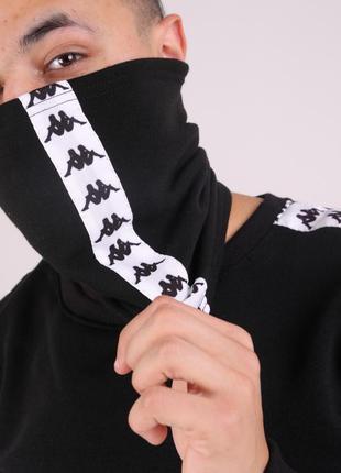 Бафф kappa чёрный с лампасом женский / мужской / шарф / маска ...