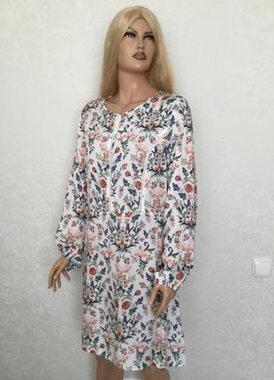 Нежное платье в цветы f&f размер 16
