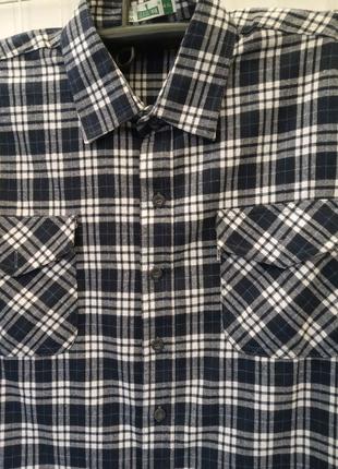 Рубашка мужская в клетку байка фланель