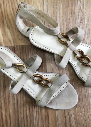 Босоножки сандалии женские натуральная замша кожа 24см 24. 5см