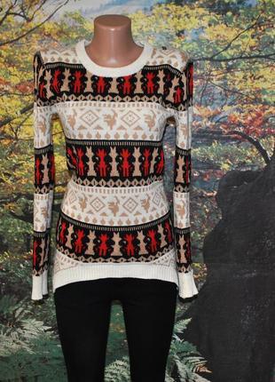 Тёплый асимметричный свитер женский хс с