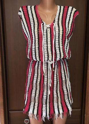 Пляжное платье туника женская с м