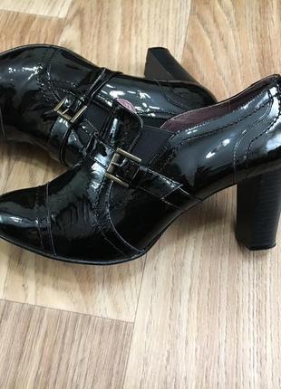 Туфли женские 26см натуральная лакированная кожа испания
