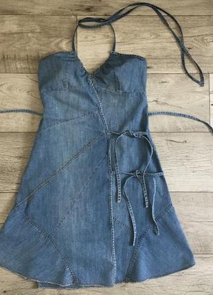 Джинсовое платье сарафан женское mango м