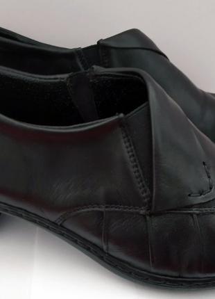 Демисезонные кожаные женские туфли Rieker (Германия), р. 36-37
