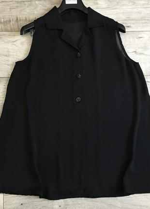 Удлинённая блузка женская безрукавка италия хл 2хл