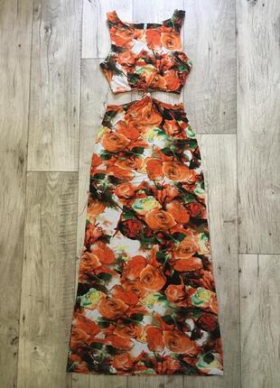 Платье женское макси с вырезами sweewe с м