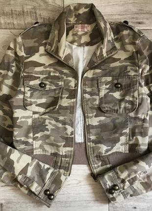 Пиджак куртка милитари укороченный бомбер женский м с