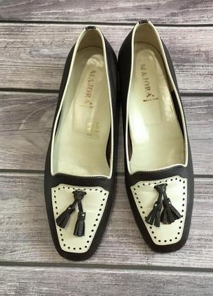 Туфли лоферы женские италия 24.5см натуральная кожа