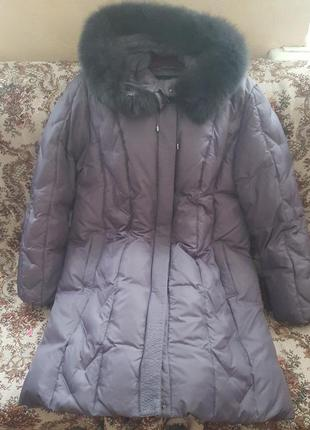 Очень теплое красивое натурал легкое фабрич пальто-пуховик люк...