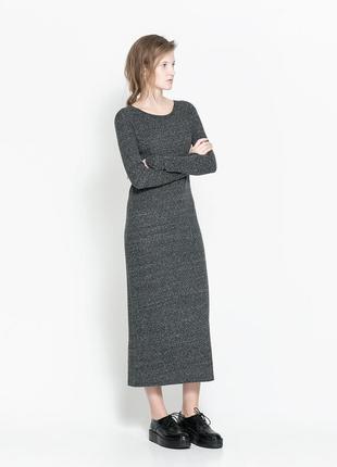Платье женское миди zara с
