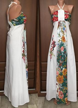Летнее платье женское сарафан макси с