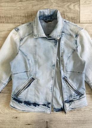 Джинсовый пиджак косуха куртка котонка женская bershka m