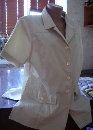 Летний катоновый пиджак из италии 50-52 размер