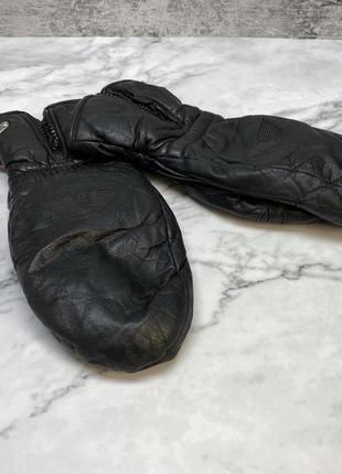 Рукавицы кожаные grandoe, теплые