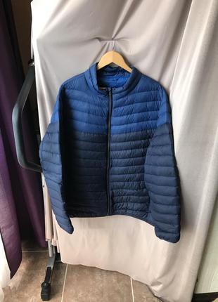 Мужская куртка пуховая стёганая курточка синяя angelo litrico ...