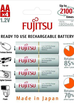 Аккумуляторы Fujitsu AA 2000 mAh Made in Japan