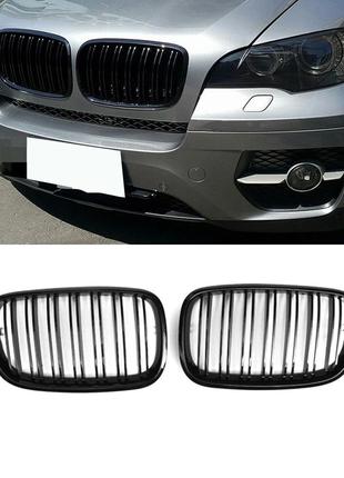 Решетка радиатора BMW X5 (E70) X6 (E71) Двойные ребра