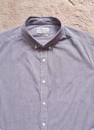 Рубашка мужская tu man англия в бело бордовую клеточку , xl в