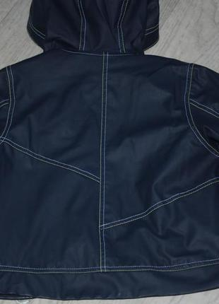 Курточка фирменная деми прорезиненая р-92/98 отличное состояние