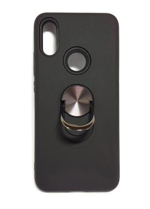 Задня накладка Xiaomi Redmi 7 Soft Touch Black with ring