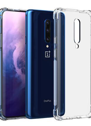 OnePlus 6 6T / 7 Pro 7T / 8 Pro чехол прозрачный силиконовый one
