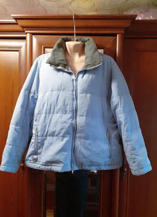 Теплая зимняя куртка пуховик батал большого размера