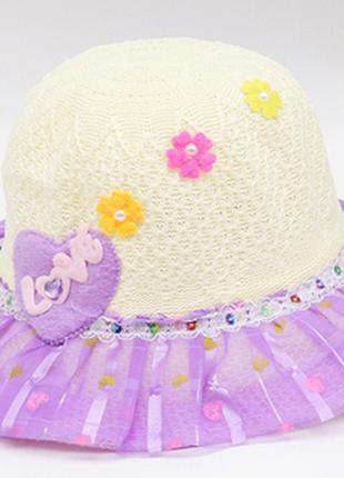 Шляпа летняя для девочки с декором