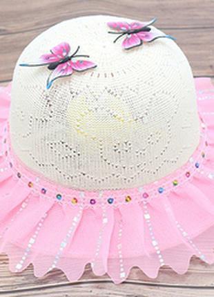 Шляпа летняя для девочки. бейсболка. летние головные уборы