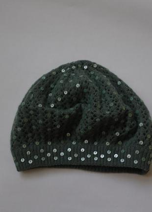 Ажурная нарядная шерстяная шапка  accessorize