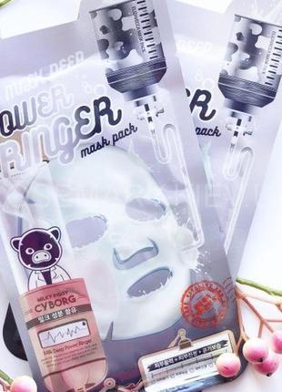 Маска молочно-цветочная elizavecca milk deep power ring mask