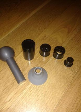Комплект для виготовлення патронів: матриця, навойник і лійка