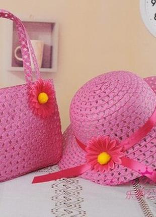 Комплект летняя шляпка и сумочка для девочки