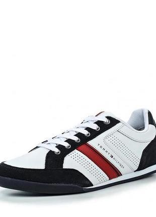 Кожаные кросковки tommy hilfiger р.40 -26см. оригинал