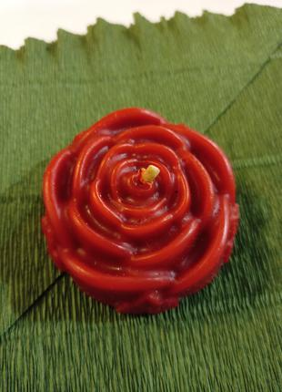 Свеча Роза из пчелиного воска ручной работы