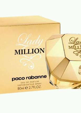 Женская парфюмированная вода Paco Rabanne Lady Million, 80 мл