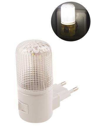 Ночник светодиодный с выключателем, 220 В,0,5 ВТ,4 LED светильник