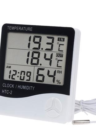 HTC-2 цифровой термометр-гигрометр с выносным датчиком температур