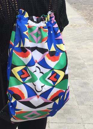 Рюкзак, сумка carpisa, разноцветный рюкзак от carpisa. модний ...