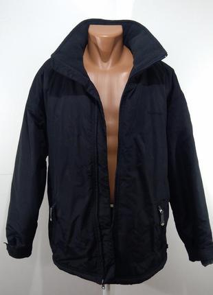 Мужская черная куртка флисовая подкладка размер м