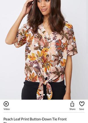 Стильная блуза/рубашка в тропический принт george размер 16, 54