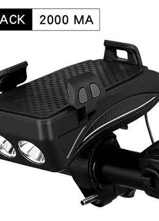 Велосипедный фонарь 4 в 1. Внешний аккумулятор 2000 мА/ч