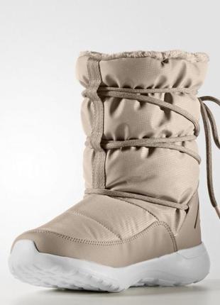 Женские сапоги adidas cloudfoam race winter артикул aq1643