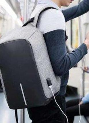 Рюкзак bobby бобби с защитой от карманников, антивор, usb разъем